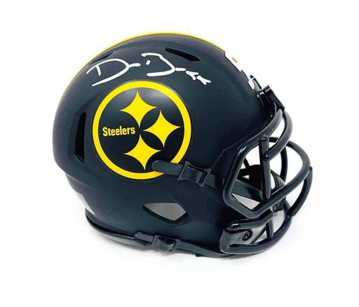 Devin Bush Signed Pittsburgh Steelers Black ECLIPSE Mini Helmet