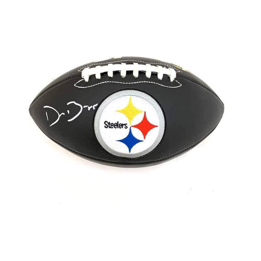 Devin Bush Signed Pittsburgh Steelers Black Logo Football