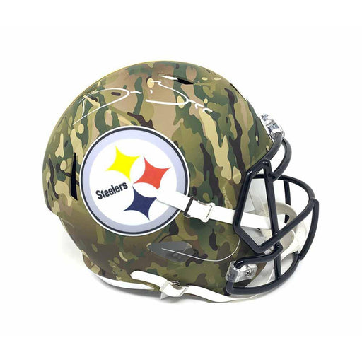 Devin Bush Signed Pittsburgh Steelers Replica Full Size CAMO Helmet