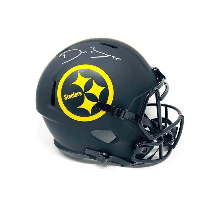 Devin Bush Signed Pittsburgh Steelers SPEED ECLIPSE Full Size Helmet