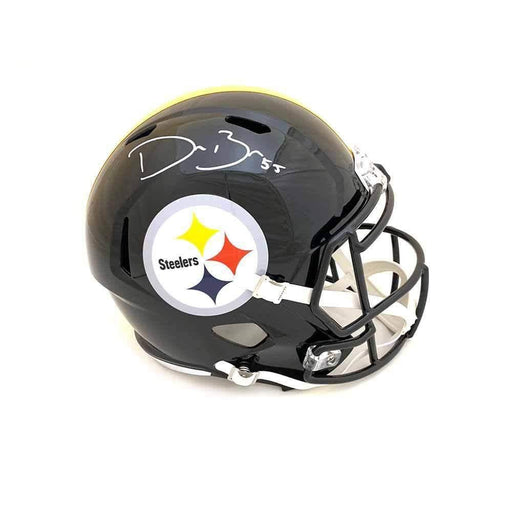 Devin Bush Signed Pittsburgh Steelers SPEED Full Size Helmet