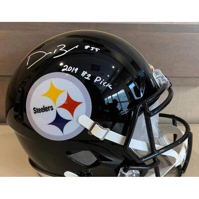 Devin Bush Signed Pittsburgh Steelers SPEED Full Size Helmet with 2019 #1 Pick