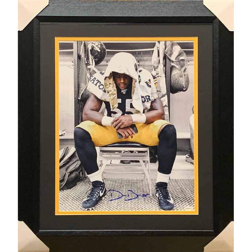 Devin Bush Signed Sitting in Locker Room Spotlight 16x20 Photo - Professionally Framed