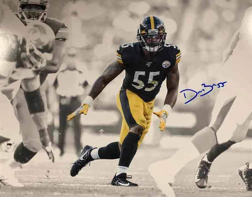 Devin Bush Signed Spotlight Running 16x20 Photo