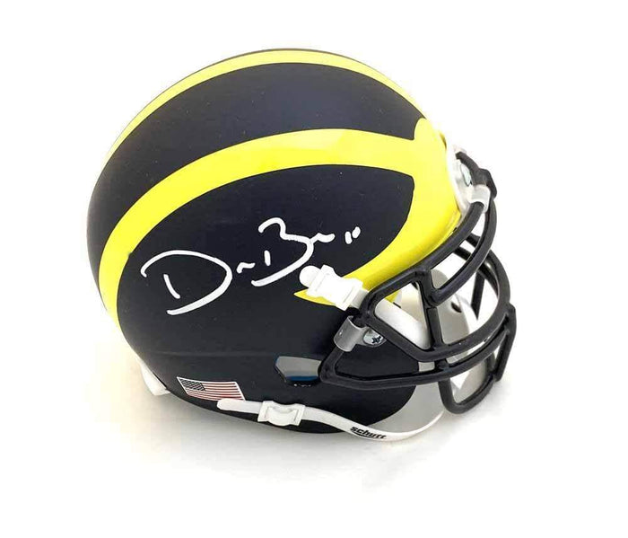 Devin Bush Signed University of Michigan Mini Helmet