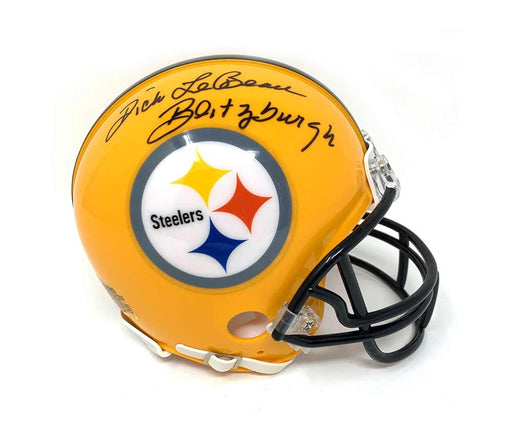 Dick LeBeau Autographed Pittsburgh Steelers 75th Anniversary Mini Helmet inscribed 'Blitzburgh'