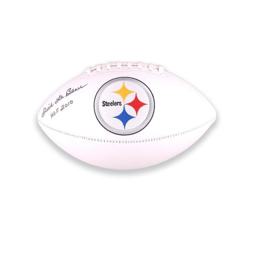 Dick LeBeau Autographed White Steelers Football inscribed 'HOF 2010'