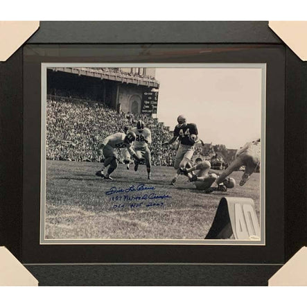 Dick Lebeau Signed OSU B&W 16x20 Photo with 1957 National Champs and OSU HOF 2010 - Professionally Framed
