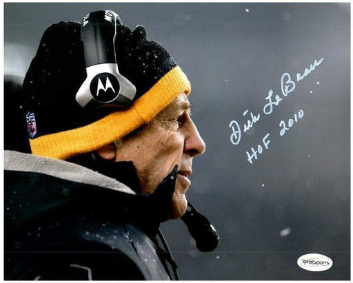 Dick LeBeau Signed Snow 8x10 Photo inscribed 'HOF 2010'