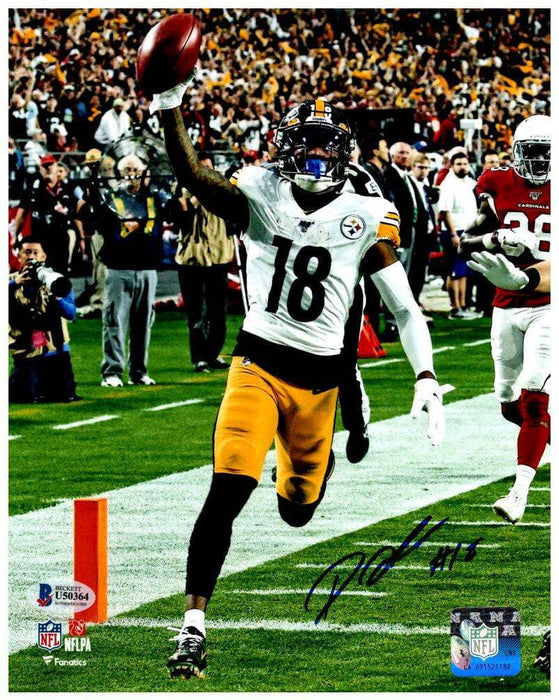 Diontae Johnson Autographed Arm Up TD 8x10 Photo