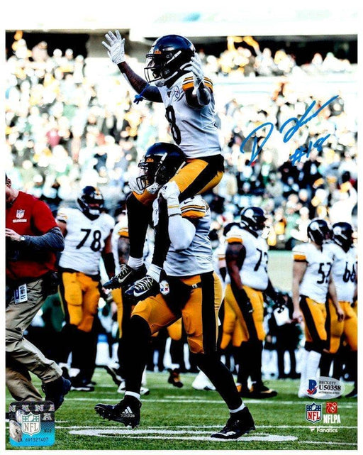 Diontae Johnson Autographed On JuJu's Shoulders 11x14 Photo