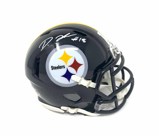 Diontae Johnson Autographed Pittsburgh Steelers Mini SPEED Helmet