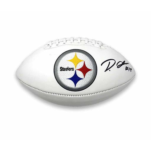 Diontae Johnson Autographed Pittsburgh Steelers White Logo Football