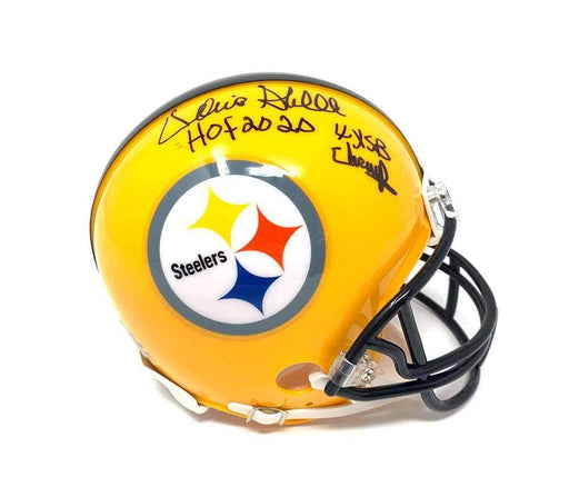 Donnie Shell Autographed Pittsburgh Steelers 75th Anniversary Mini Helmet with New HOF 2020 & 4X SB Champs