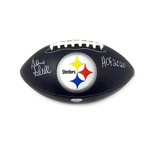 Donnie Shell Autographed Pittsburgh Steelers Black Logo Football with New HOF 2020