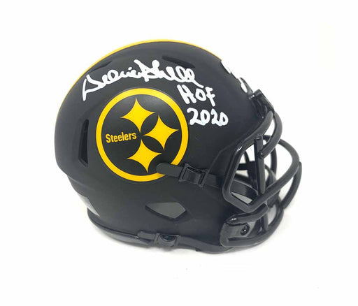 Donnie Shell Autographed Pittsburgh Steelers Eclipse Mini Helmet with HOF 2020