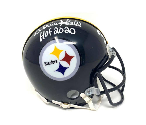 Donnie Shell Autographed Pittsburgh Steelers Reg Black Mini Helmet with Custom Face Mask with HOF 2020