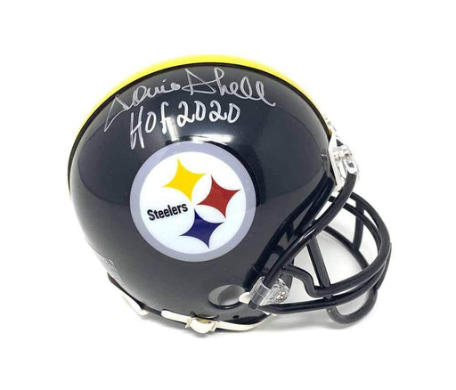 Donnie Shell Autographed Pittsburgh Steelers Reg Black Mini Helmet with New HOF 2020
