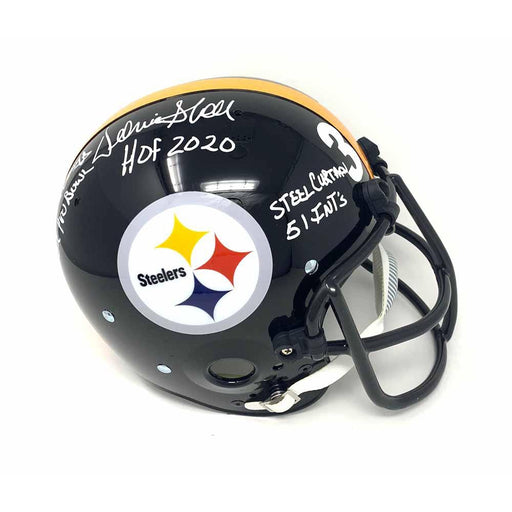 Donnie Shell Autographed Pittsburgh Steelers Replica with Custom Face Mask Inscribed 5X Pro Bowl, 4X SB Champs, HOF 2020, Steel Curtain, 51 INT's