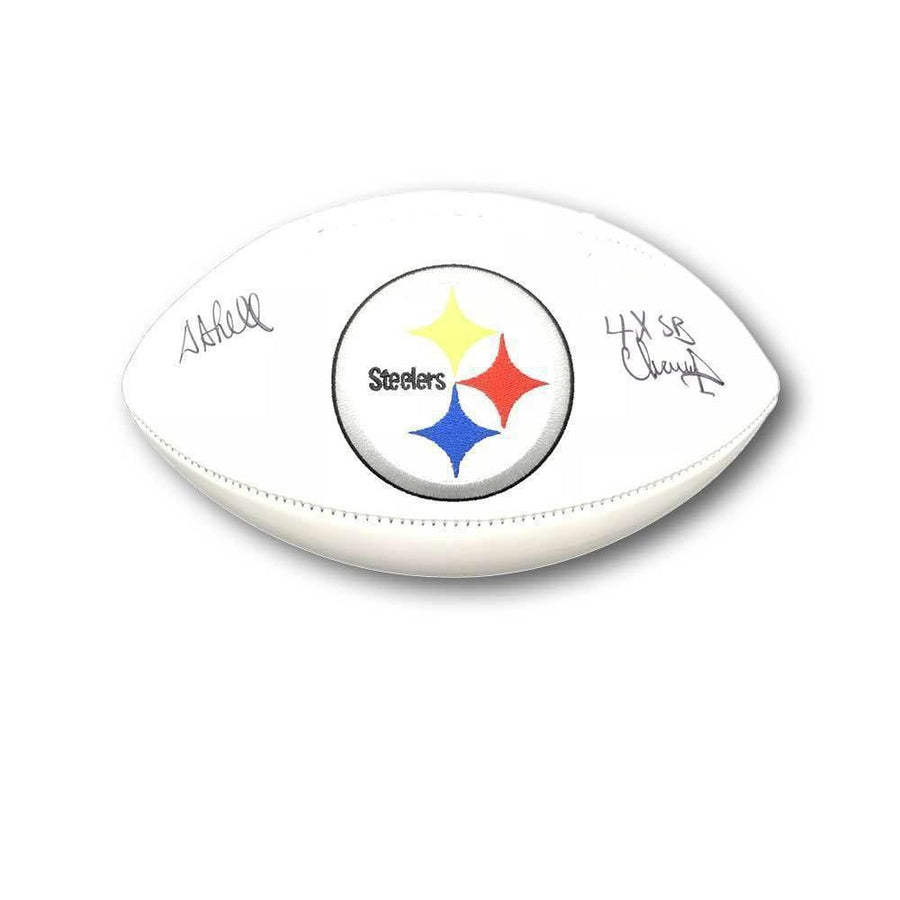 Donnie Shell Autographed Pittsburgh Steelers White Logo Football with 4X SB Champs