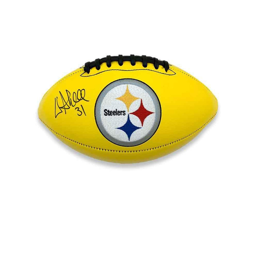 Donnie Shell Autographed Pittsburgh Steelers Yellow Logo Football