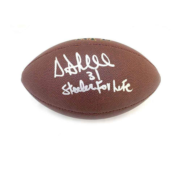 Donnie Shell Autographed Replica Football with Steeler 4 Life