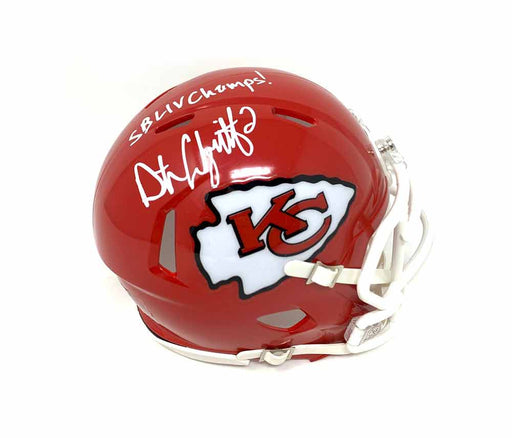 Dustin Colquitt Autographed Kansas City Chiefs Speed Mini Helmet with SB LIV Champs!