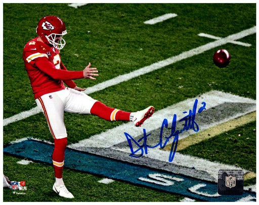 Dustin Colquitt Autographed Kicking in SB LIV 8x10 Photo