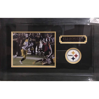 Eli Rogers Running vs. Redskins 8x10 Unsigned - Professionally Framed