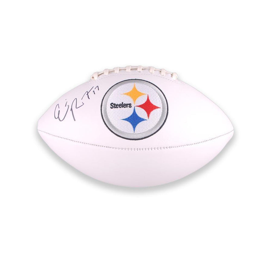 Eli Rogers Signed Steelers White Logo Football