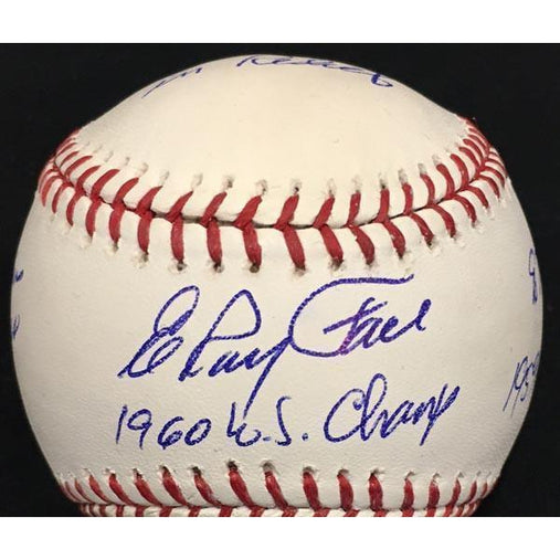 Elroy Face Autographed MLB STAT Baseball with Multiple Inscriptions