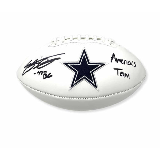 Everson Griffin Signed Dallas Cowboys White Logo Football with America's Team