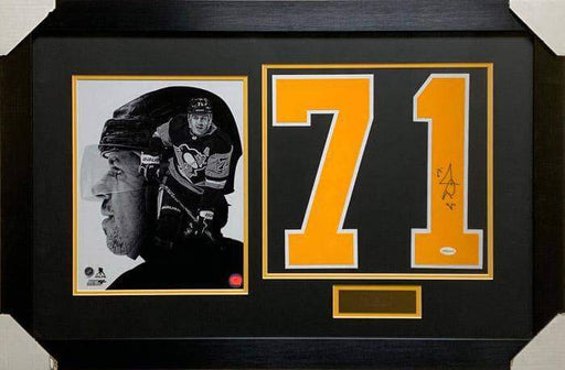 Evgeni Malkin Autographed #71 with 8x10 Photo - Professionally Framed