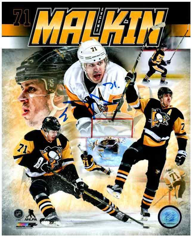 Evgeni Malkin Autographed Collage 16x20 Photo