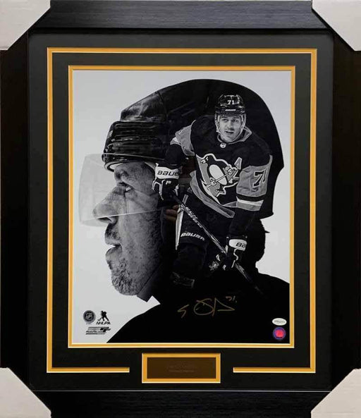 Evgeni Malkin Autographed Custom B&W 16x20 Photo - Professionally Framed