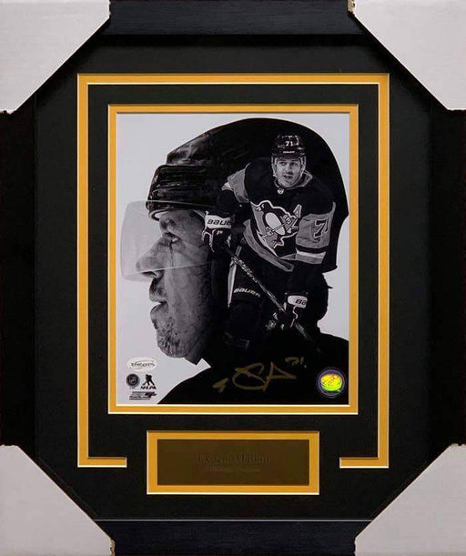 Evgeni Malkin Autographed Custom B&W 8x10 Photo - Professionally Framed
