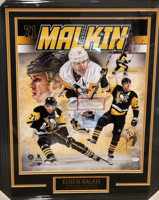 Evgeni Malkin Signed Collage 16x20 - Professionally Framed