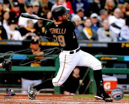 Francisco Cervelli Signed Full Swing Horizonal 8x10