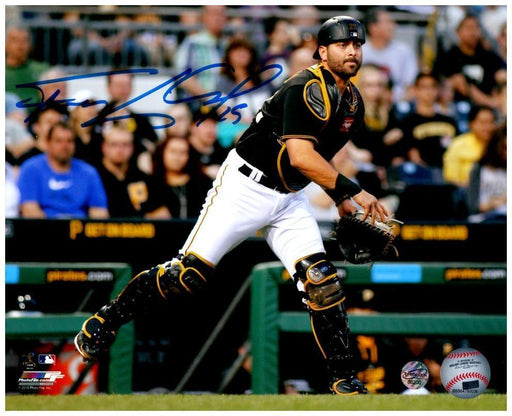 Francisco Cervelli Signed Throwing Without Mask in Black 8x10