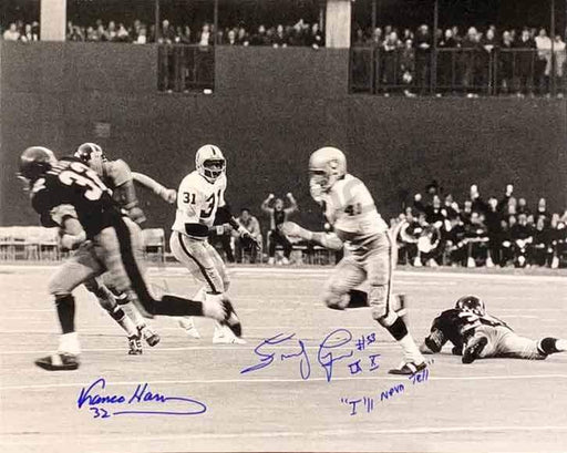 Franco Harris and Frenchy Fuqua Signed Immaculate Reception 16x20 Black and White Photo