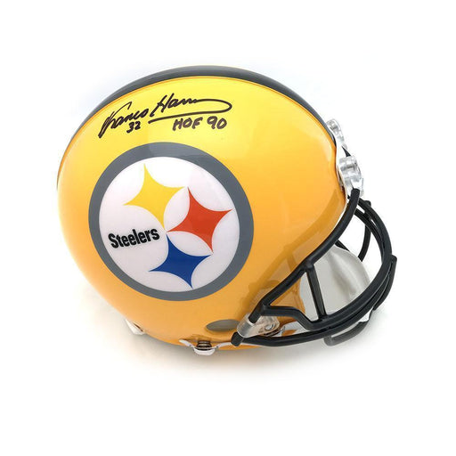 Franco Harris Autographed 75th Anniversary Authentic Helmet with 'HOF 90'