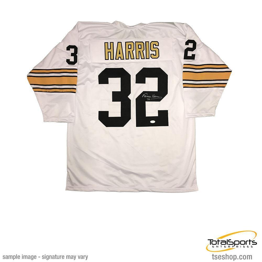 Franco Harris Autographed Pittsburgh Steelers White 3 4 Sleeve Custom Jersey cd35a638d