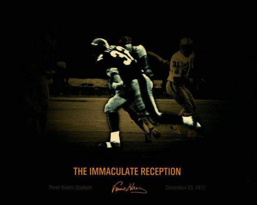 Franco Harris Custom Immaculate Reception Unsigned 8x10 Photo