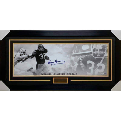 Franco Harris TSE Exclusive  Signed Panoramic - Professionally Framed