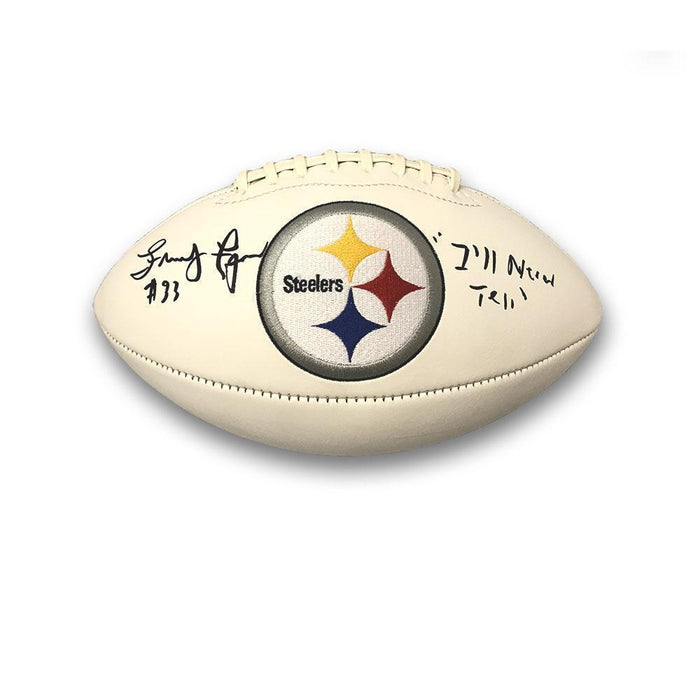 "Frenchy Fuqua Autographed Pittsburgh Steelers White Logo Football with ""I'll Never Tell"""