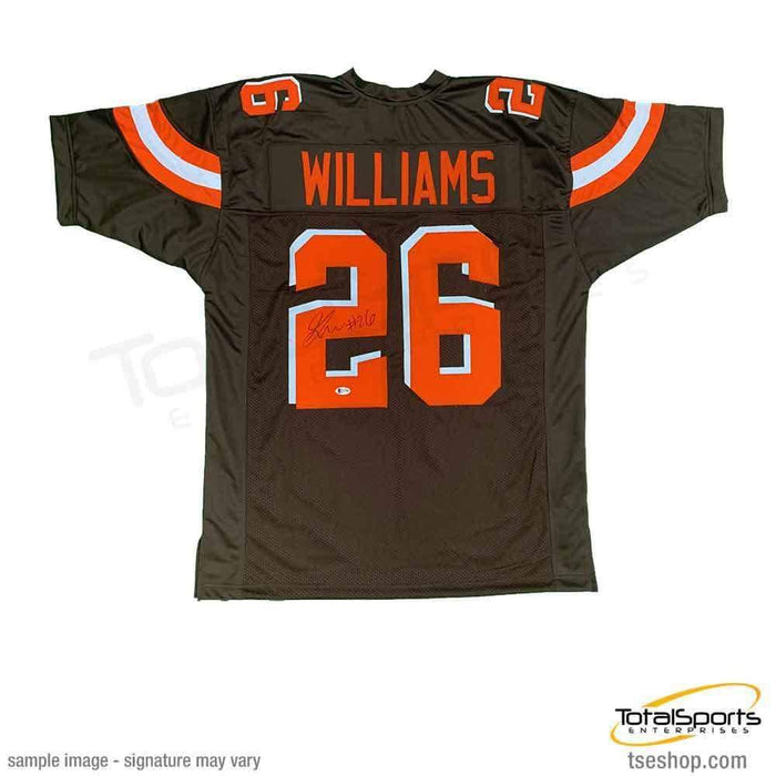 Greedy Williams Signed Brown Football Jersey