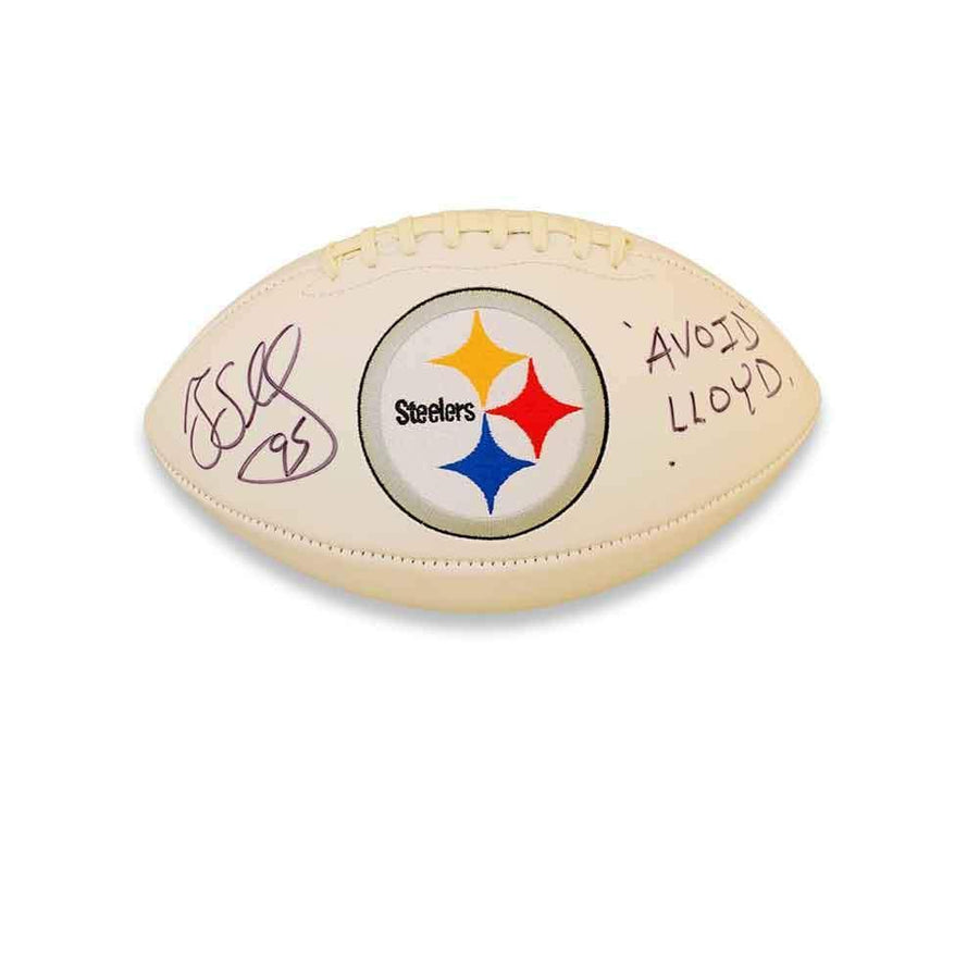 Greg Lloyd and Levon Kirkland Autographed Pittsburgh Steelers White Logo Football
