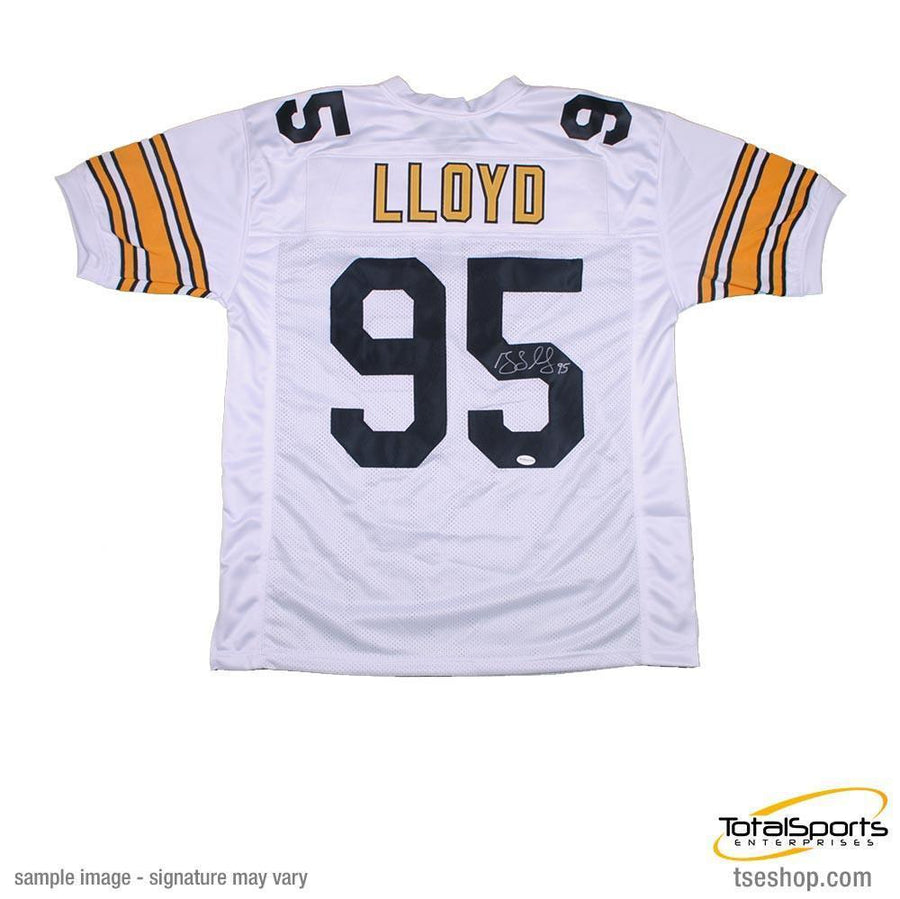2d60ee5ab Greg Lloyd Autographed White Custom Jersey