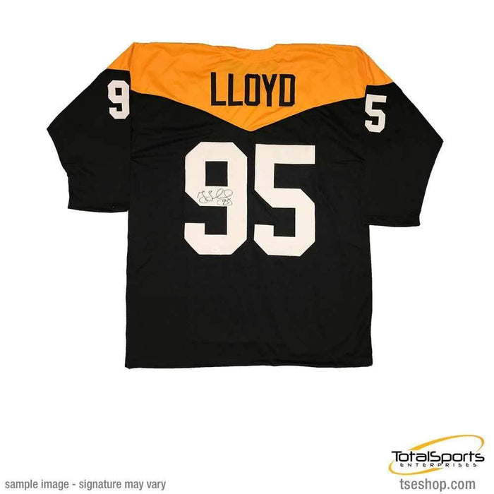 Signed STEELERS Jerseys Greg Lloyd Signed '67 Throwback Custom Jersey
