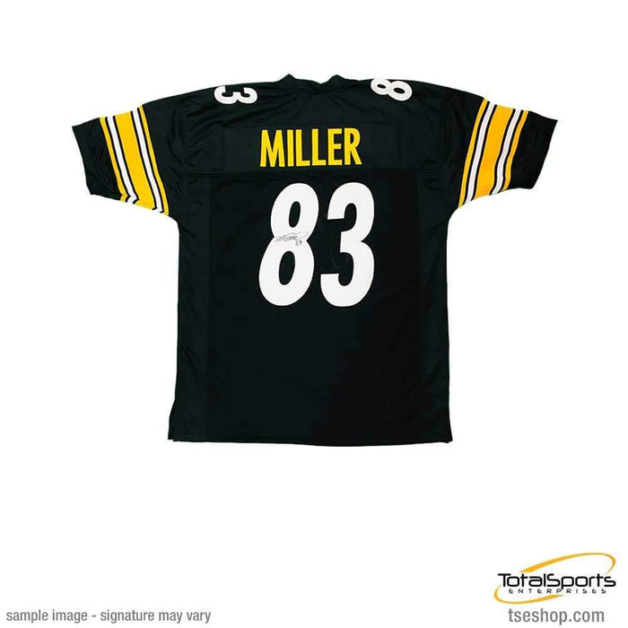 Heath Miller Autographed Black Custom Jersey